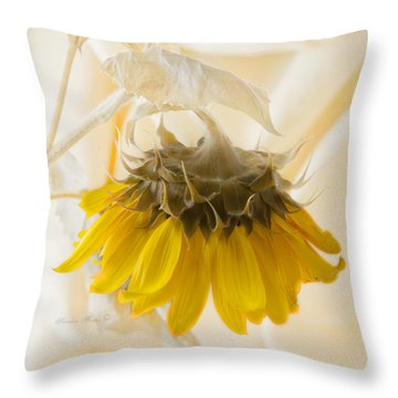 A Suspended Sunflower Throw Pillow