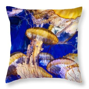 A Swarm Of Jellies Throw Pillow