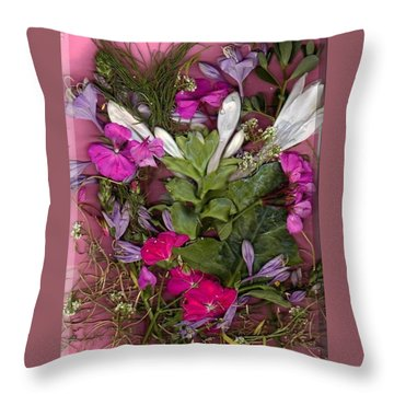 A Symphony Of Flowers Throw Pillow by Ray Tapajna