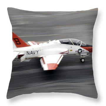 A T-45c Goshawk Training Aircraft Makes Throw Pillow