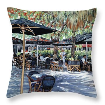 A Table For Two Throw Pillow by Danielle  Perry