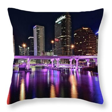 A Tampa Night Throw Pillow