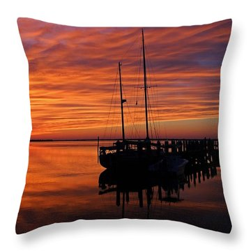 A Tarpon Tryst Throw Pillow