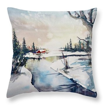 A Taste Of Winter Throw Pillow
