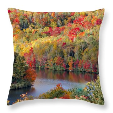 A Tennessee Autumn Throw Pillow by Debbie Karnes