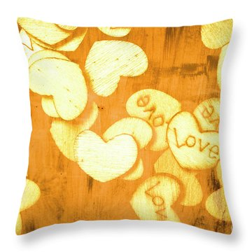 A Texture Of Vintage Love Throw Pillow