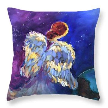 A Thousand Hearts - Earth Angel Throw Pillow