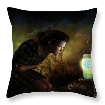 Throw Pillow featuring the digital art A Thousand Hugs by Shanina Conway