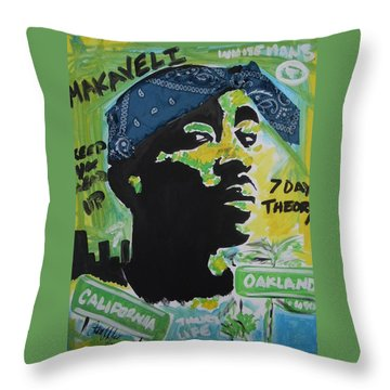 A Thugs Mind Throw Pillow