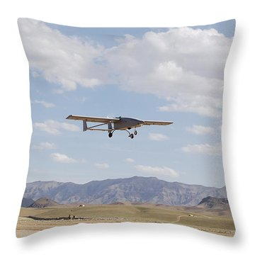 A Tiger Shark Unmanned Aerial Vehicle Throw Pillow by Stocktrek Images