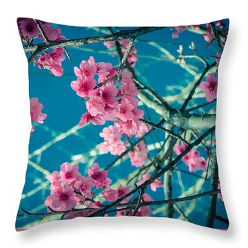 A Time To Blossom Throw Pillow