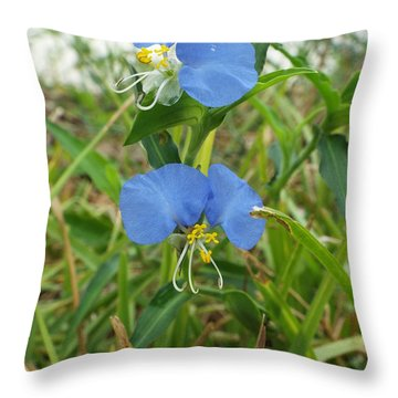 A Touch If Ice Throw Pillow