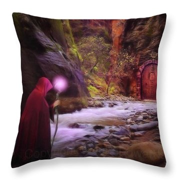 A Touch Of Fantasy - The Road Less Throw Pillow