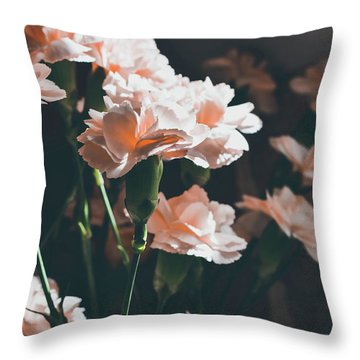 A Touch Of Georgia Sunlight - Macro Throw Pillow