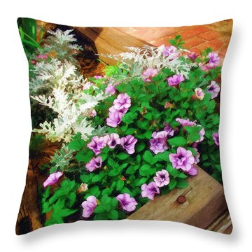 Throw Pillow featuring the painting A Touch Of Nature by Sandy MacGowan