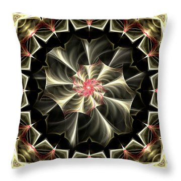 A Touch Of Pink Throw Pillow by Lea Wiggins