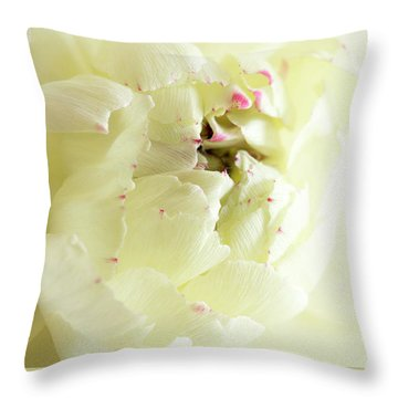 Throw Pillow featuring the photograph A Touch Of Pink by Wendy Wilton