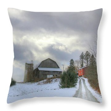 A Touch Of Snow Throw Pillow