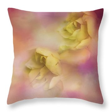 A Touch Of Spring Flower Art Throw Pillow