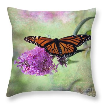 A Touch Of Spring Throw Pillow by Laurinda Bowling