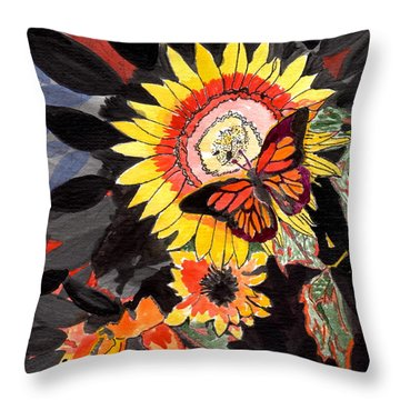 A Touch Of Summer Throw Pillow by Connie Valasco