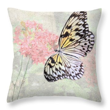 A Touch Of White Throw Pillow