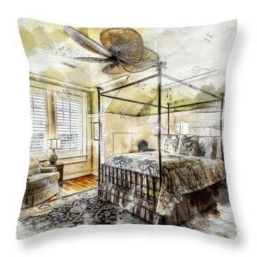 A Traditional Bedroom Throw Pillow