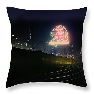 A Train's A Comin' 1948 Throw Pillow