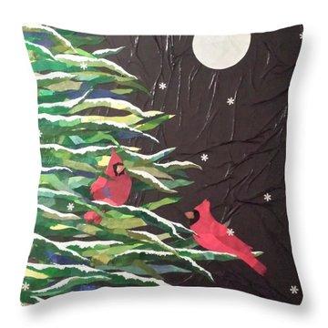 A Light Snowfall Throw Pillow by Diane Miller