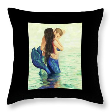Throw Pillow featuring the painting A Treasured Love by Leslie Allen