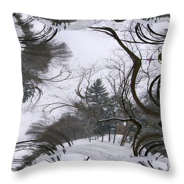Throw Pillow featuring the digital art A Tree Fractal by Skyler Tipton