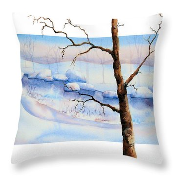 A Tree In Another Dimension Throw Pillow