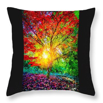 A Tree In Glory Throw Pillow