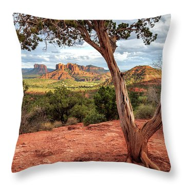 A Tree In Sedona Throw Pillow