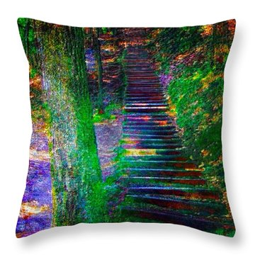 A Trek Throw Pillow by Iowan Stone-Flowers