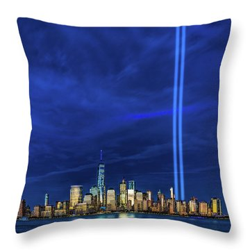 Throw Pillow featuring the photograph A Tribute At Dusk by Chris Lord