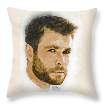 A Tribute To Chris Hemsworth Throw Pillow