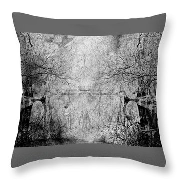 Throw Pillow featuring the photograph A Tribute To Collins Creek by Jim Vance