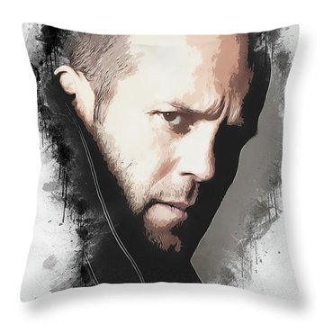 A Tribute To Jason Statham Throw Pillow