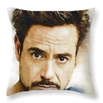 A Tribute To Robert Downey Jr. Throw Pillow