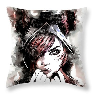 A Tribute To Xayah Throw Pillow