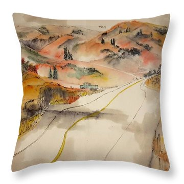 a trip to Lewistown  in Autumn  album Throw Pillow