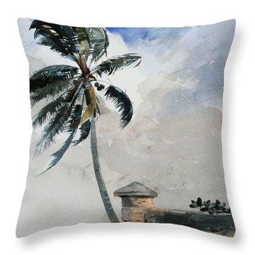 A Tropical Breeze Throw Pillow