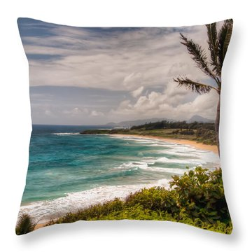 A Tropical Paradise Throw Pillow