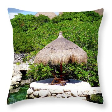 Throw Pillow featuring the photograph A Tropical Place To Relax by Francesca Mackenney