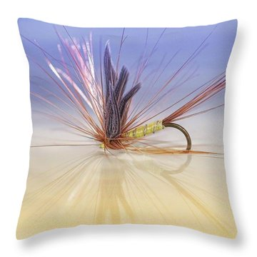 A Trout Fly (greenwell's Glory) Throw Pillow by John Edwards