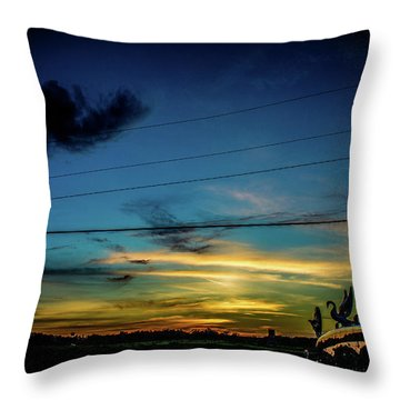 A Trucker's View Throw Pillow