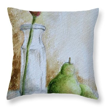 A Tulip And Two Pears Throw Pillow