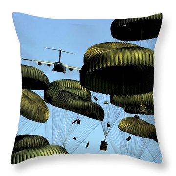 A U.s. Air Force C-17 Globemaster IIi Throw Pillow by Stocktrek Images