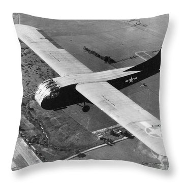 A U.s. Army Air Force Waco Cg-4a Glider Throw Pillow by Stocktrek Images